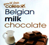 Coles Belgian milk chocolate title
