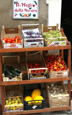 Fruit and veg at a Sicilian grocer