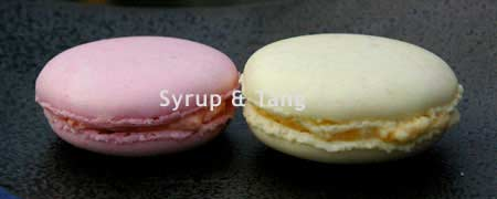 macarons pink and yellow