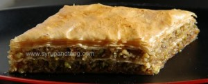 Luxuriously fragrant baklava