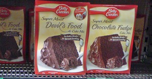 Duncan's Degustations – Betty Crocker Super Moist Devil's Food Cake