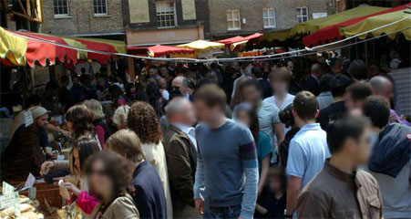 Borough Market crowd