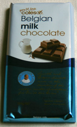 Coles Belgian milk chocolate block