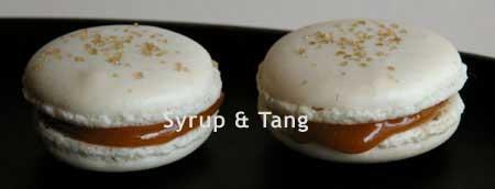 macarons with caramel